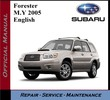 subaru Forester 2005 Workshop Service Repair Manual