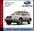 Thumbnail Subaru Forester M.Y. 2004 Service Repair Workshop Manual