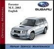 Thumbnail Subaru Forester M.Y. 2003 Service Repair Workshop Manual