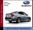 Subaru Legacy M.Y. 2008 Service Repair Workshop Manual