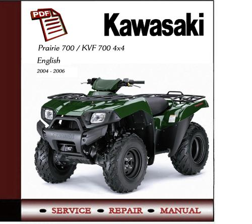 Kawasaki Prairie 700    Kvf700 4x4 Workshop Service Manual Kawasaki Kvf700 Repair Manual Kawasaki